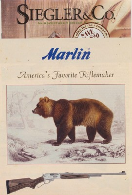 2006 Marlin Firearms & 2005 Siegler Sporting Gifts Catalogs
